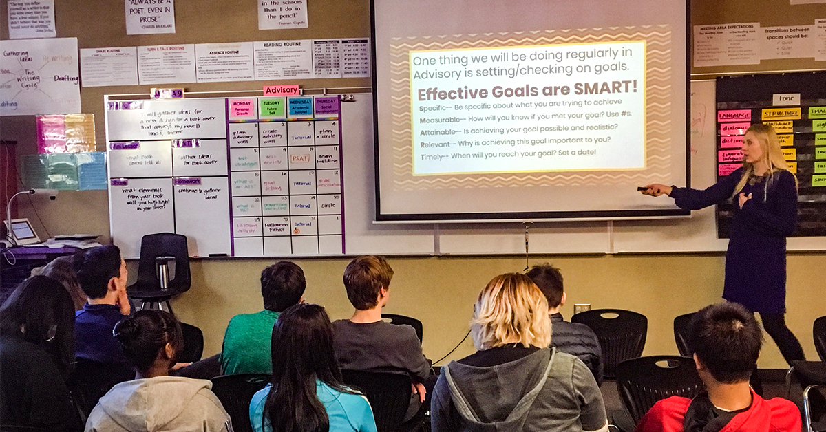 Classroom Snapshot: Emojis, Goal Setting, and a Place for